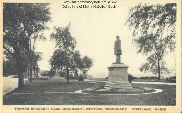 Thomas Brackett Reed monument, Portland, ca. 1910