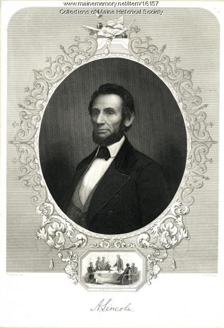 Abraham Lincoln engraving, ca. 1849