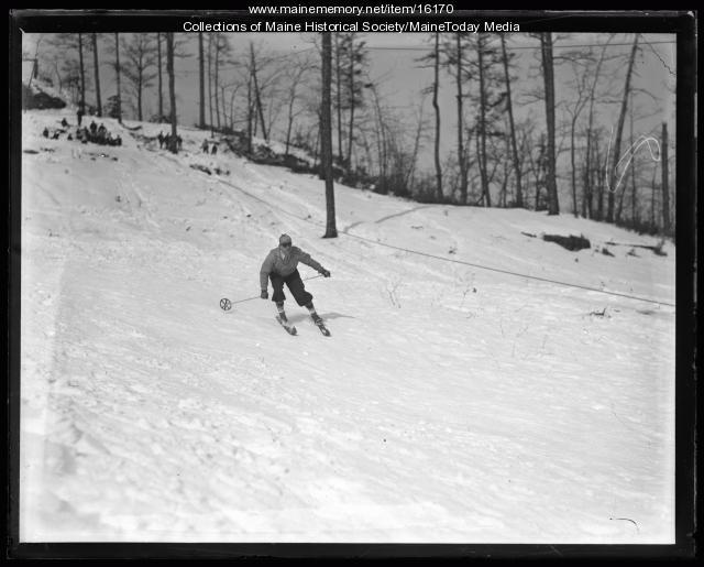 Skier, Fryeburg, 1936