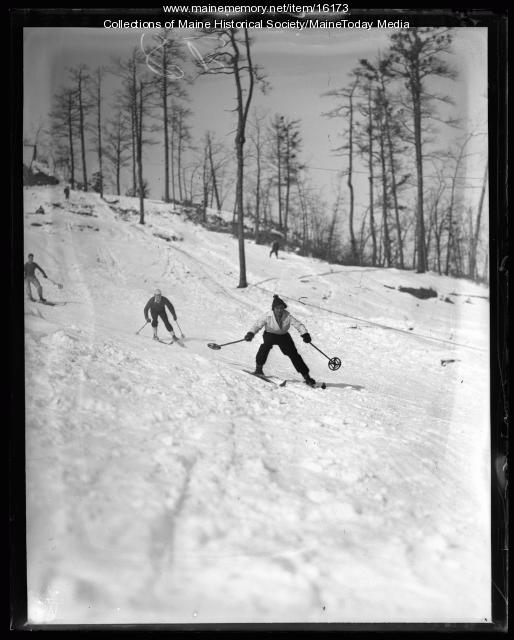 Skiers, Fryeburg, 1936