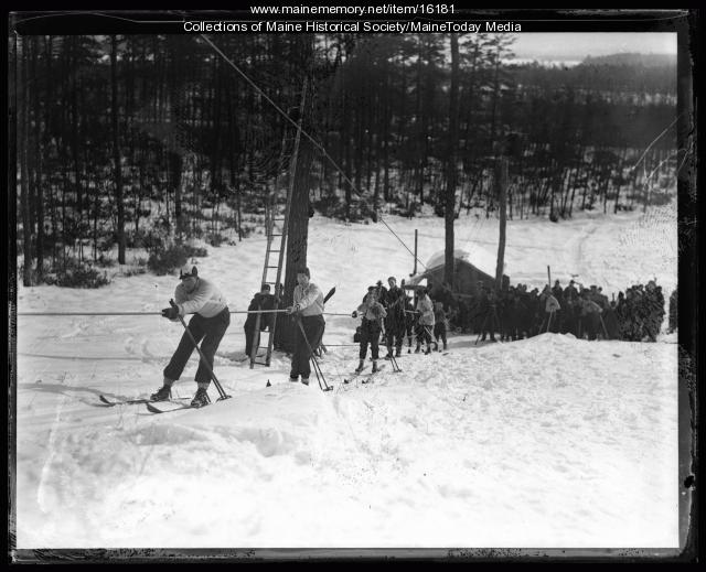 Waiting for the tow, Fryeburg, 1936