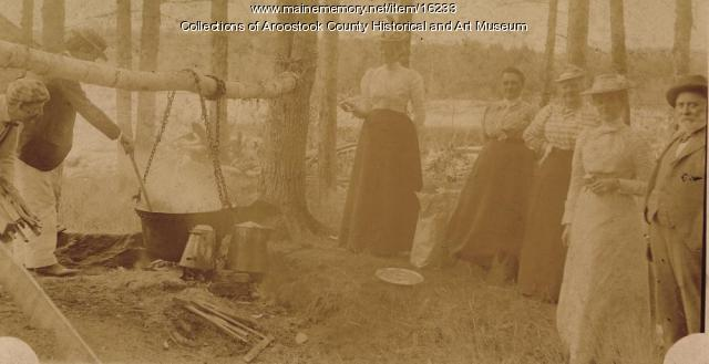 Sunday outing in the Aroostook Woods, c. 1915