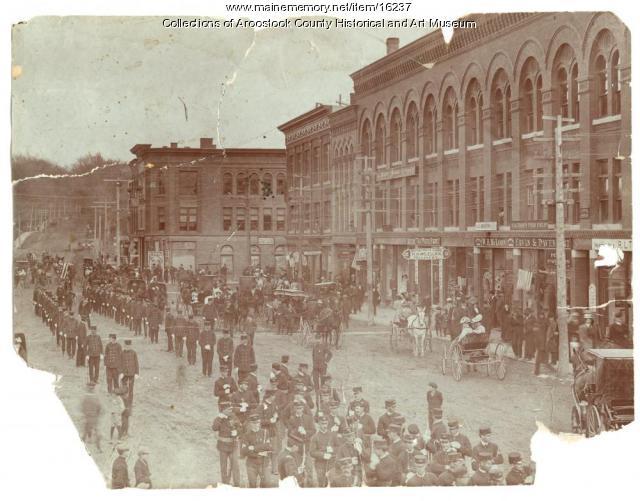 Parade, Market Square, Houlton, ca. 1905