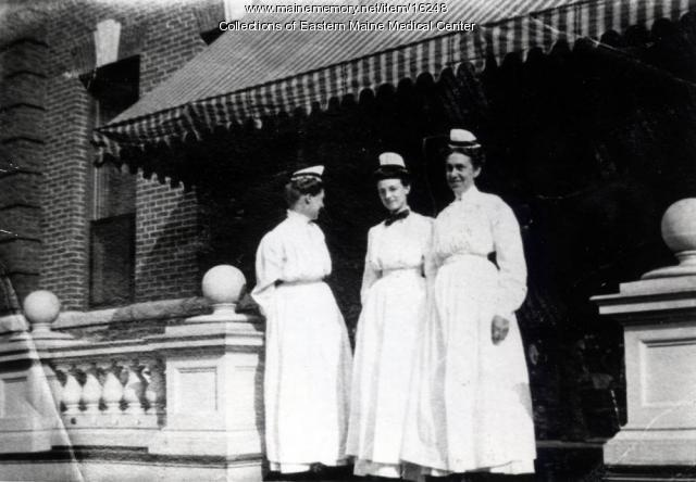 Nurses, Eastern Maine General Hospital, ca. 1908