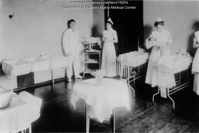 Nursery, Eastern Maine General Hospital, ca. 1915