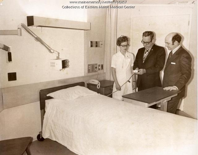 Patient Room at Eastern Maine Medical Center ca. 1972