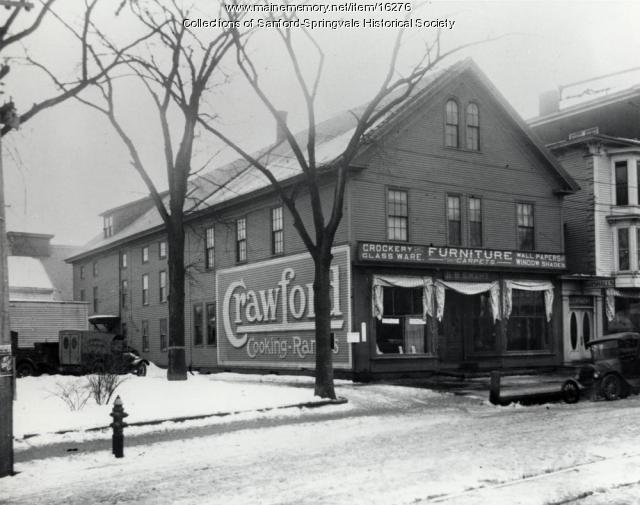S.B. Emery Store on Washington Street, Sanford