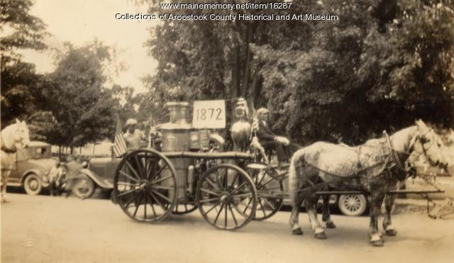 Houlton's horse-drawn steam-pumper, ca. 1925