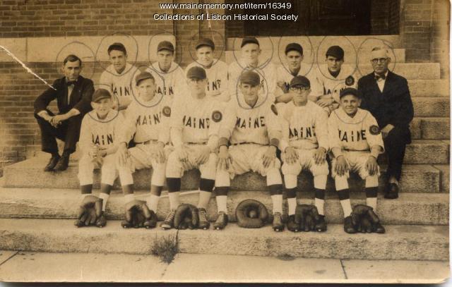Lisbon Falls championship baseball team, 1929