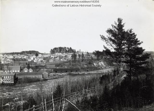The Lisbon Falls Area Before the Great Fire of 1901