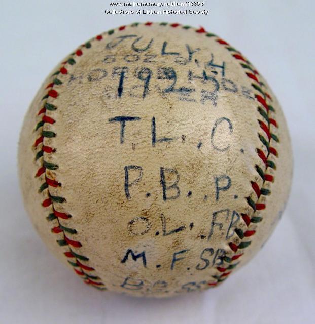 Baseball, Lisbon Falls, 1925