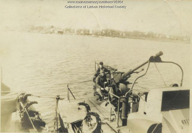 PT boat at Melville, Rhode Island, 1945