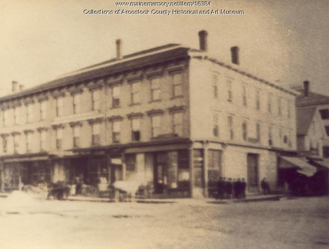Market Square, Houlton, ca. 1880