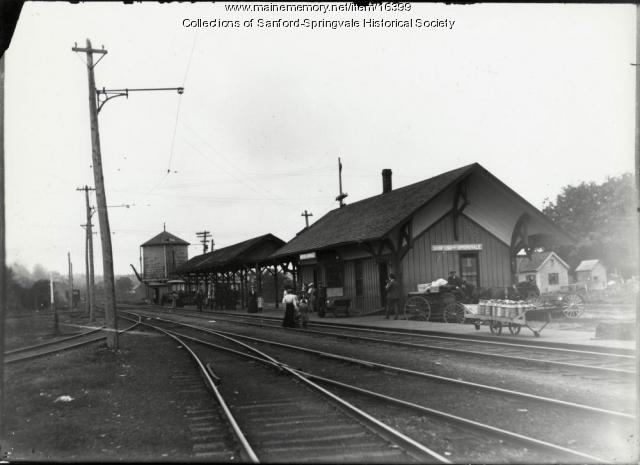 Railroad Station, Springvale, ca. 1900