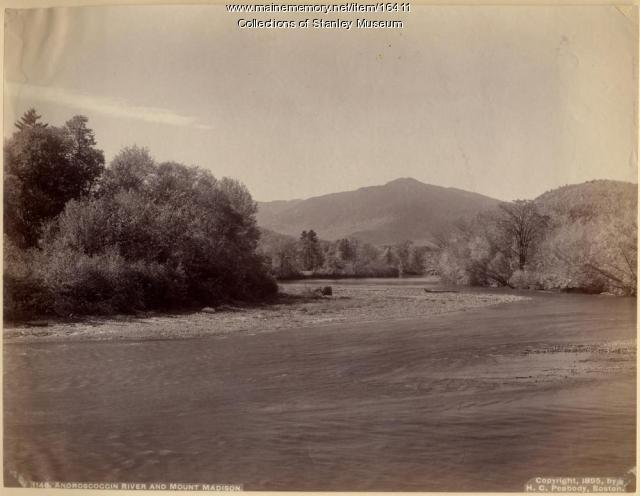 Androscoggin River and Mount Madison, 1895