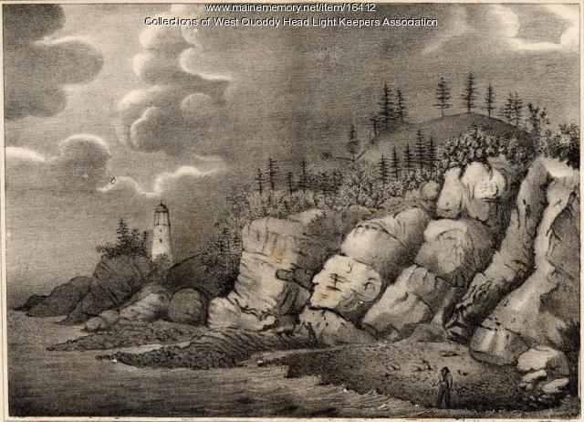 West Quoddy and Lighthouse, ca. 1837