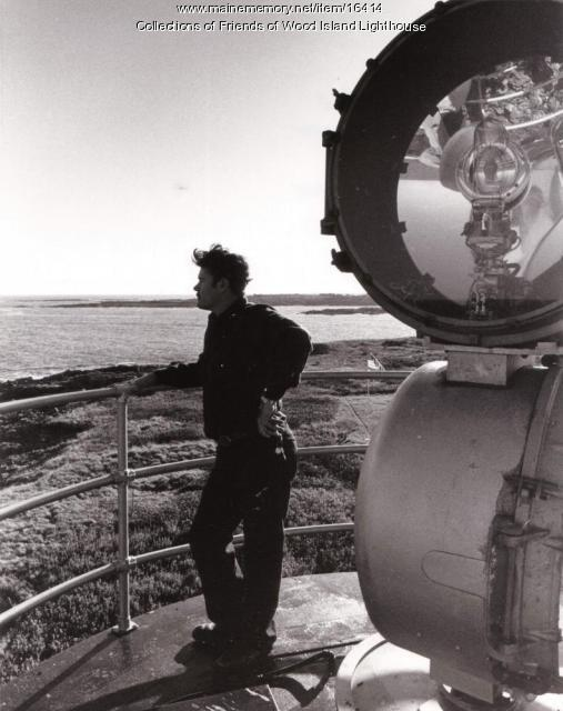 Aerobeacon at Wood Island Lighthouse, Biddeford, c. 1980