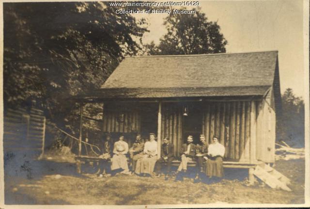 Campers at Tim Pond, ca. 1906