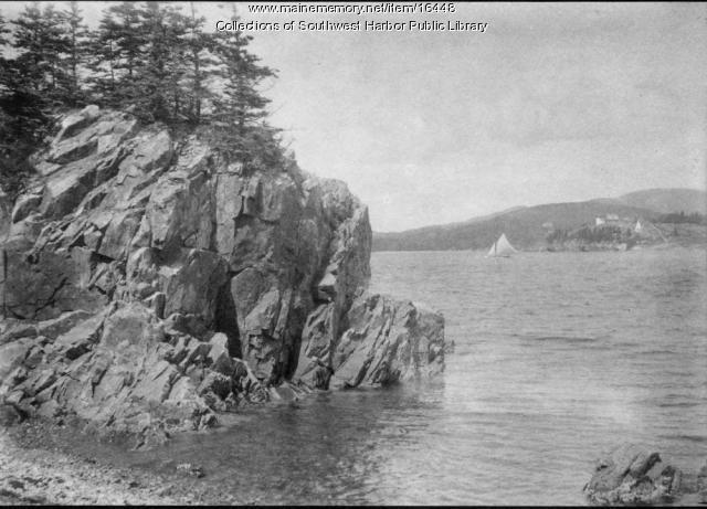 Cliffs on Suttons Island, Southwest Harbor, 1907