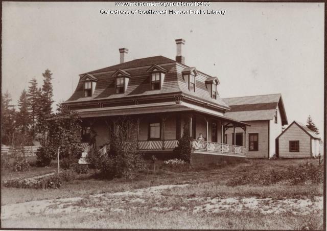 Nathan Clark cottage, Southwest Harbor, 1890