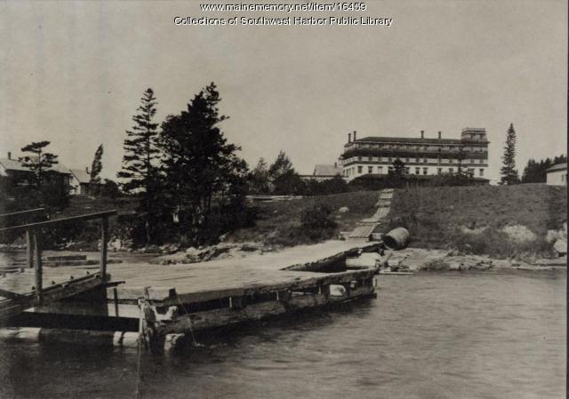 Island House and slip, Southwest Harbor, 1893