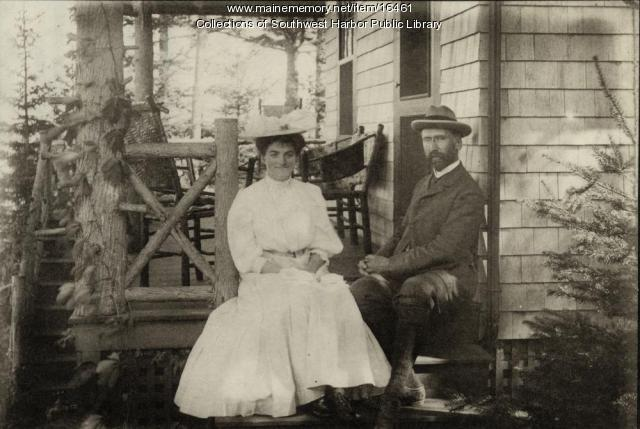 Henry and Marion Rand, Southwest Harbor, 1906