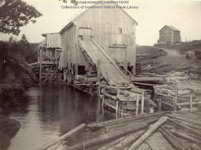 Higgins Saw Mill, Somesville, 1890