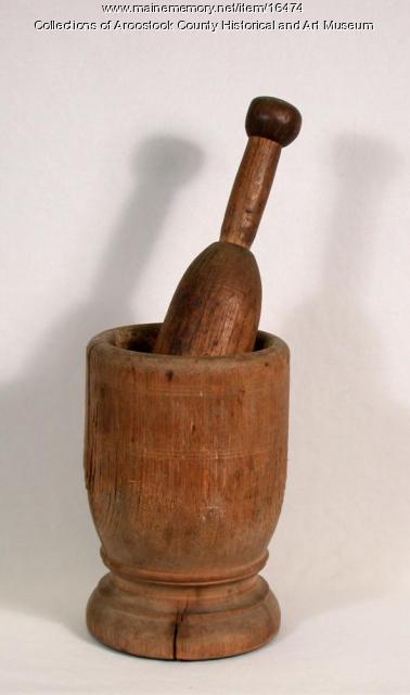 Mortar and Pestle, Houlton, c. 1830