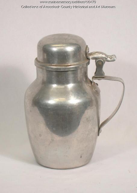 Aluminum Maple Syrup Carafe, c. 1900