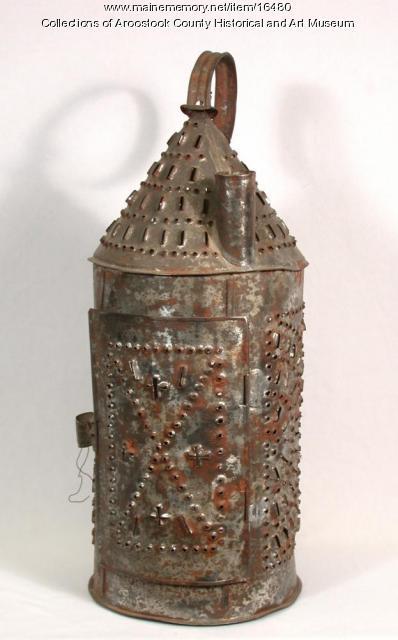 Pierced Tin Candle Lantern, Houlton, c. 1820