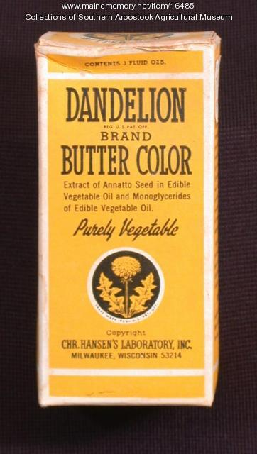 Dandelion Brand Butter Color, ca. 1963