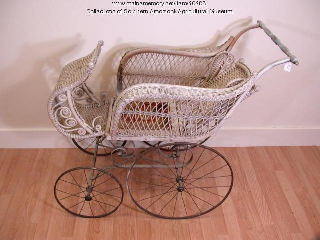 Wicker Baby Carriage , c. 1900
