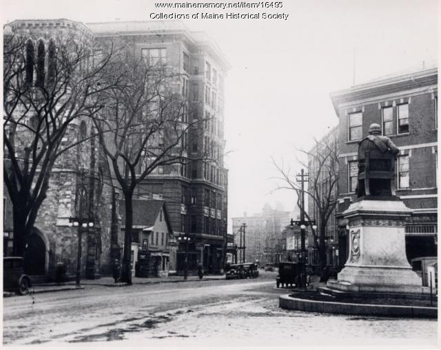 Longfellow Square and Trelawny Building, Portland, 1921