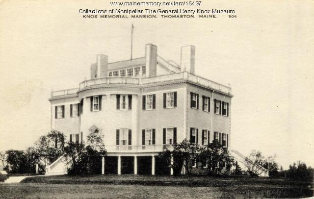 Knox Memorial Mansion, Thomaston, ca. 1931