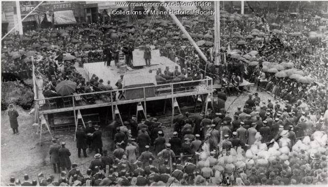 Soldiers and Sailors Monument ceremony, Portland, 1889