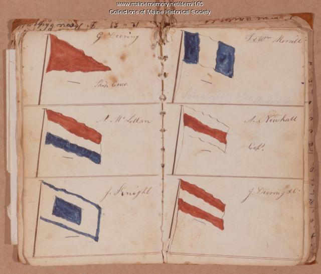 Signal flags, Portland Observatory, ca. 1810