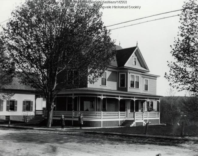 The Home of Hiram B. Rowe, Springvale, ca 1910