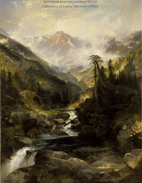 Mountain of the Holy Cross painting, 1875