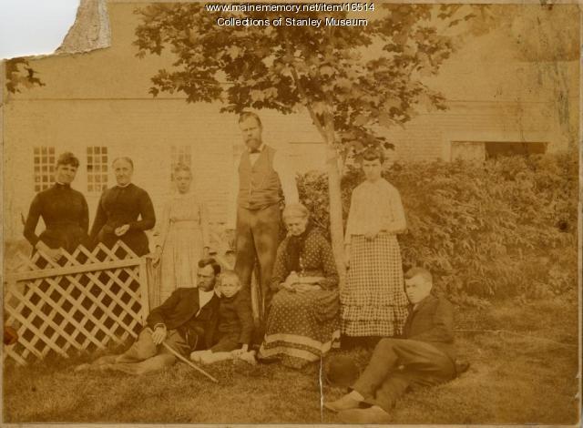 Mary Moody and Family, Rumford, ca. 1885