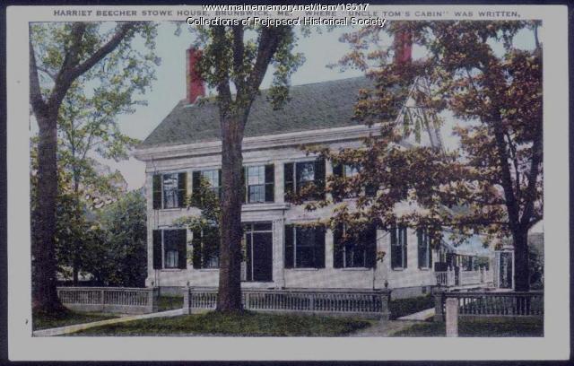 Stowe house postcard, Brunswick, ca. 1920