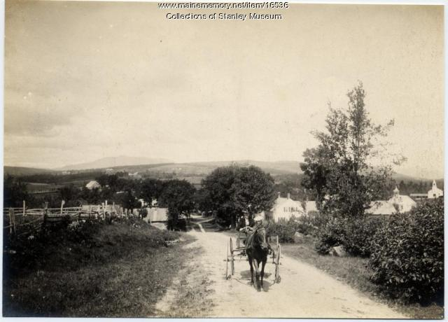 Climbing Out of West New Portland, ca. 1905