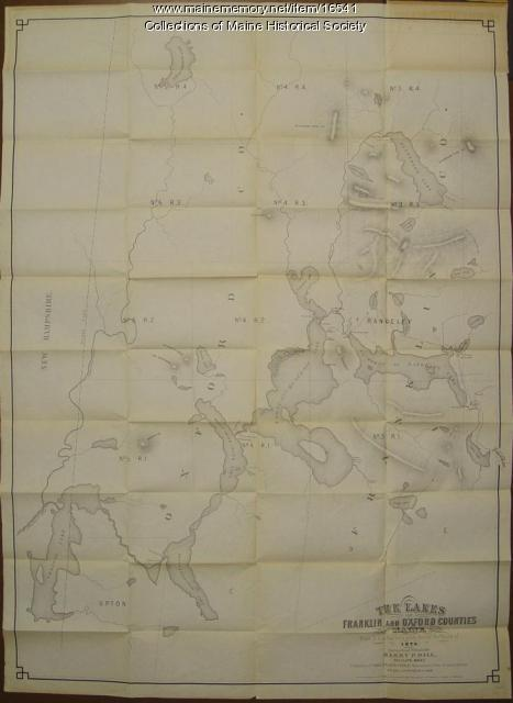 Map of lakes of Franklin and Oxford counties, 1876