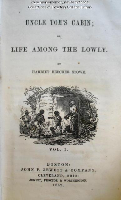 Title Page From First Edition Of Uncle Tom S Cabin Maine