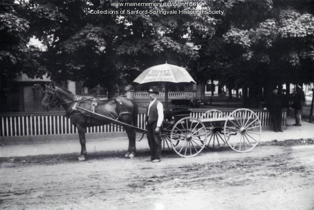 Delivery Wagon in Sanford Square, ca 1900
