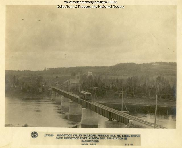 Aroostook Valley Railroad Trestle, ca. 1910
