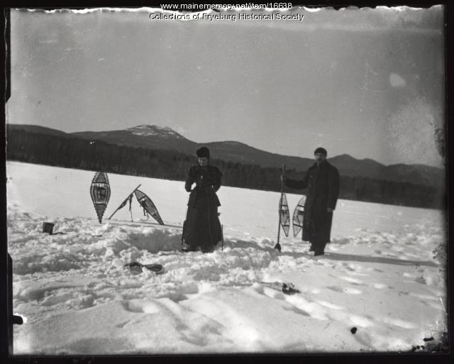 Loren and Ella Olney, Kezar Lake, ca. 1910