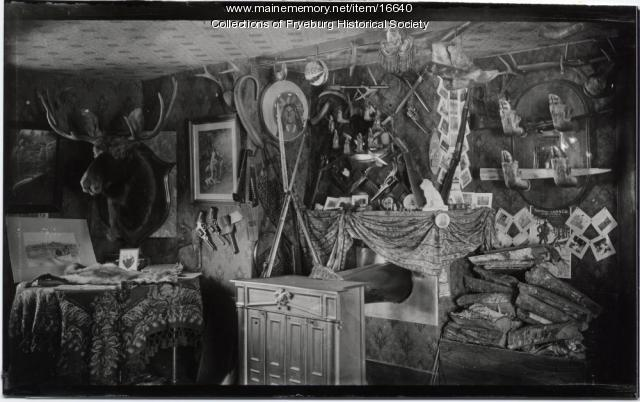 Inside Jonello Cottage, Lovell, ca. 1901