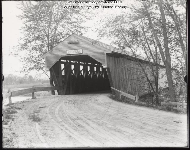 Weston's Covered Bridge, Fryeburg, ca. 1900