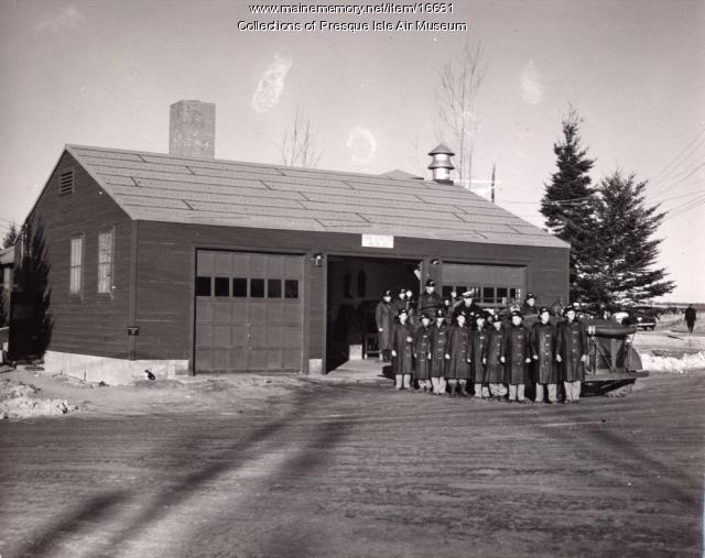 Presque Isle Army Air Base fire station, ca. 1943