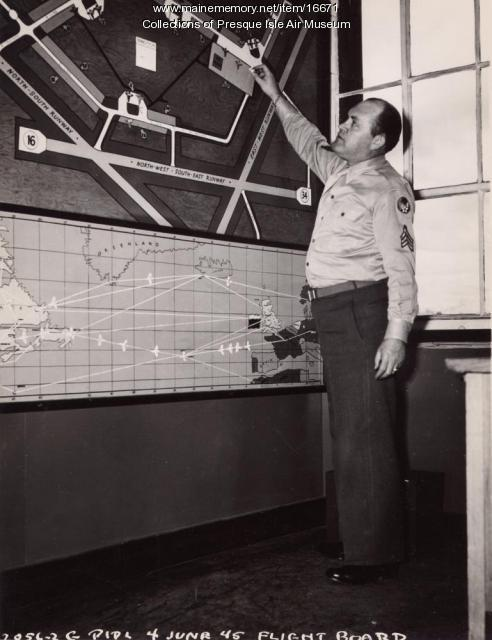 Air traffic controller, Presque Isle, 1945